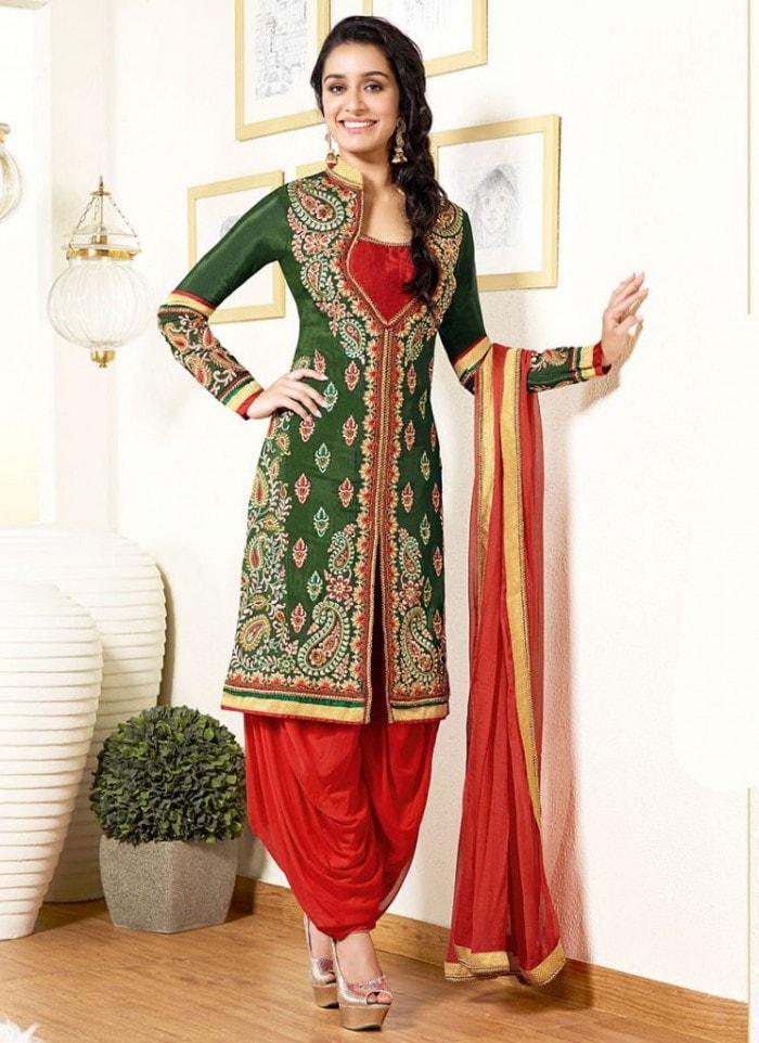 shraddha kapoor Dhoti style suit