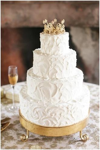 Snow Inspired Wedding Cake