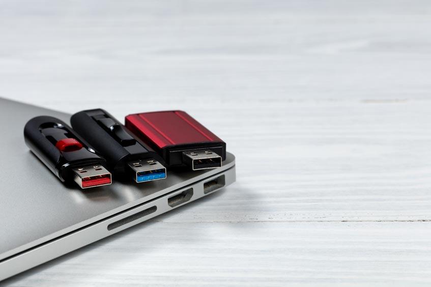 three flash drives