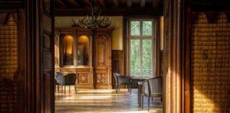 Textured wooden flooring
