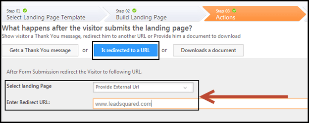 Direct People to Landing Pages