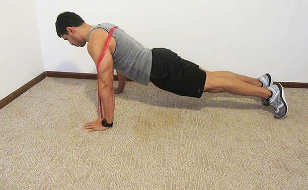 Small resistance band loop Planks