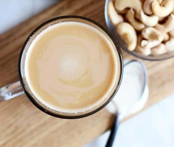 Creamy maple cashew coffee