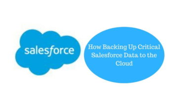 How Backing Up Critical Salesforce Data to the Cloud