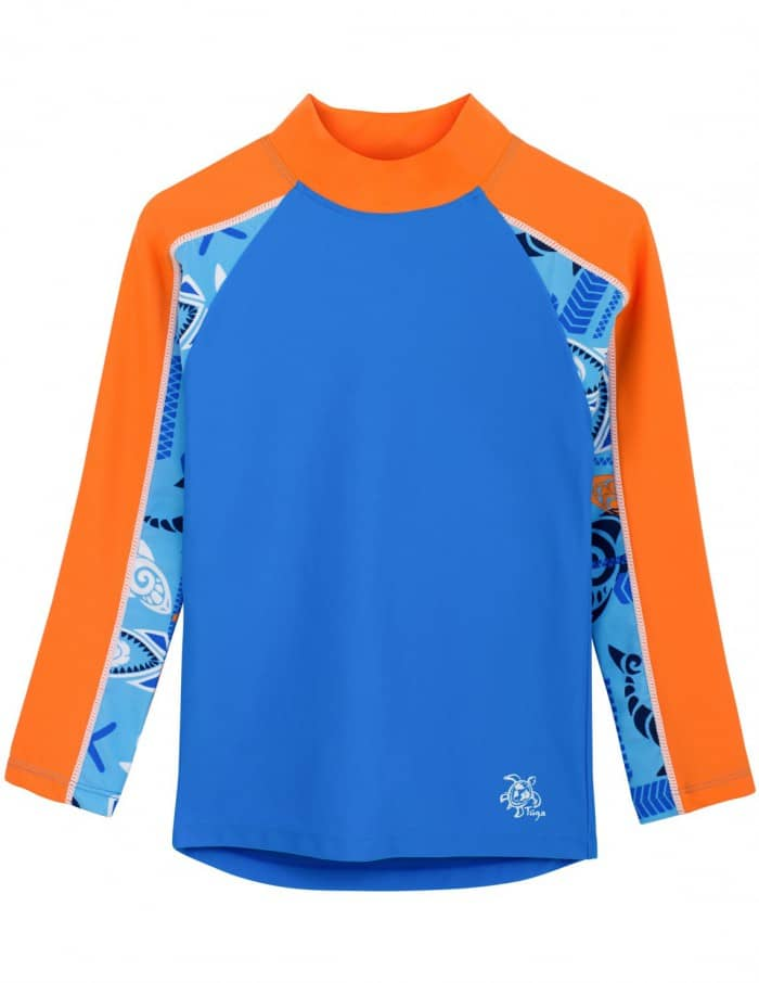 Tuga Boys' Tube Long Sleeve Rash Guard