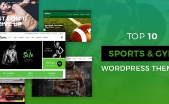 Sports and Gym WordPress Themes