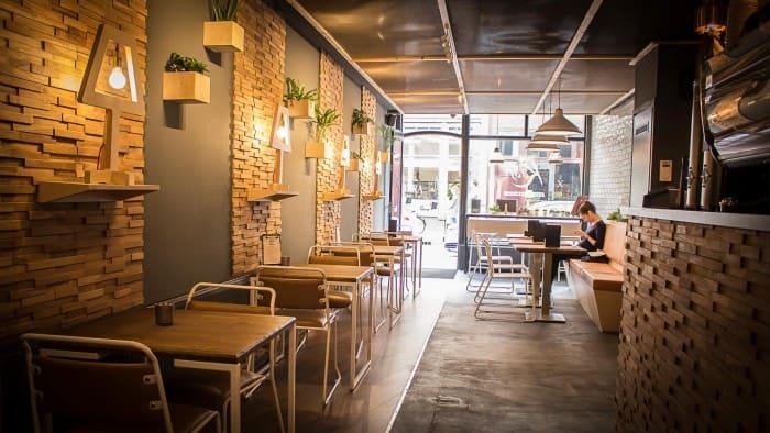 Society café interior design