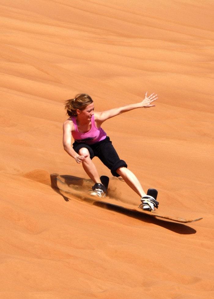 Sandboarding on High Dunes
