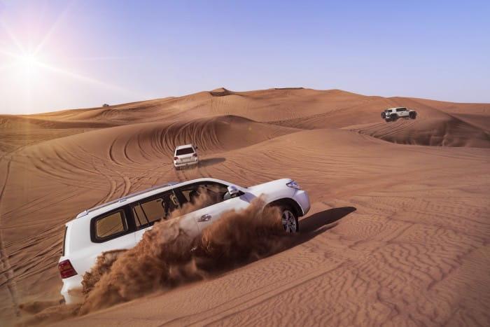 dune bashing in desert safari dubai