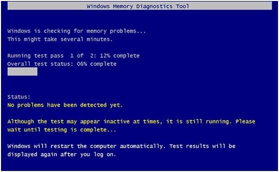 Run Windows Memory Check