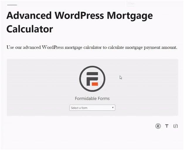 Advanced WordPress Mortgage Calculator