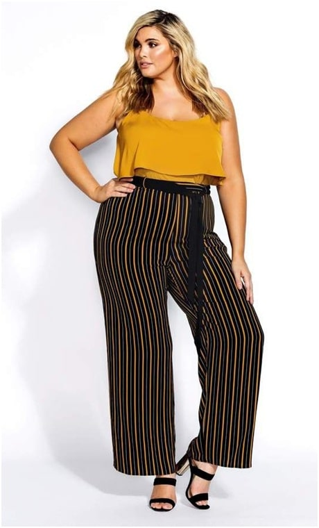 Statement pants with an all-season top