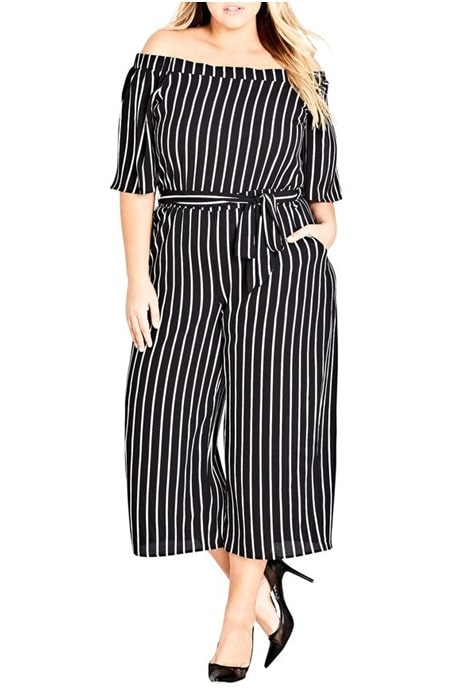 Vertical stripes pantsuit