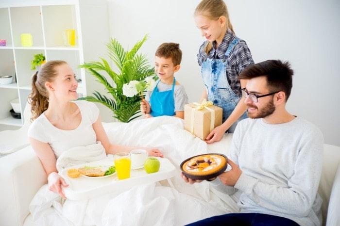 Serve her breakfast in bed