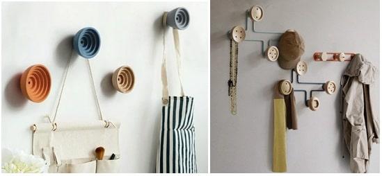 Let wall hooks keep you beautifully organized