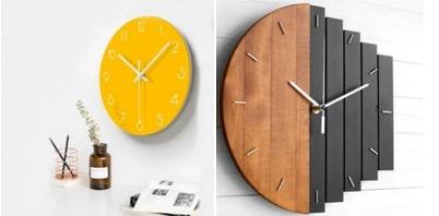 Use modern wall clocks as functional art