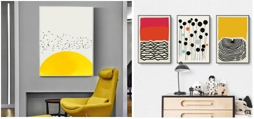 Use wall art as the dominant color in your room's design