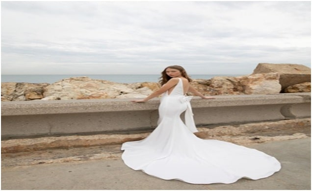 Trumpet Gown for Ranch Wedding
