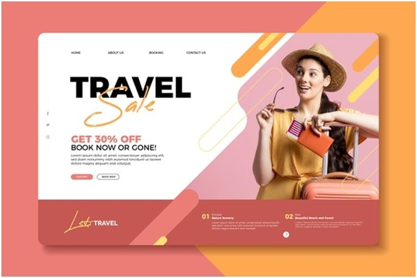 example of a straightforward and colorful landing page