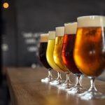 Handmade beer glass