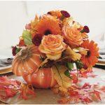 Autumn Amber Rose Bouquet