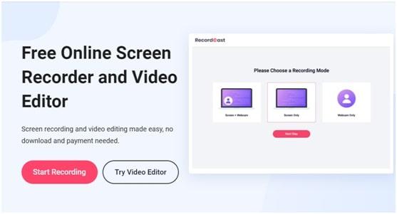 RecordCast website tool