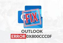 Error 0x800ccc0f