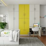 A Wardrobe With Concealed Study Table