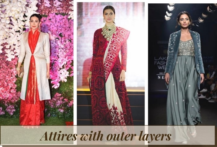 Attire with outer layers