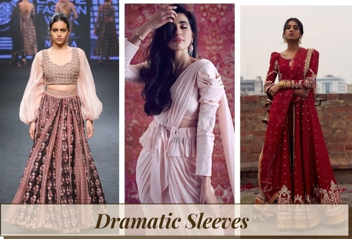 Dramatic sleeves for women