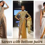 Saree with bottom pairs